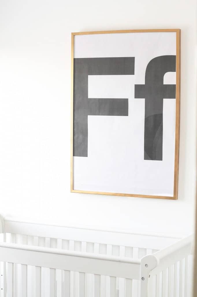 DIY Huge Letter Art on the Cheap