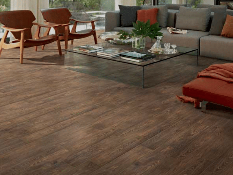Our flooring solid wood vs faux wood tile chris loves for Simulated wood flooring