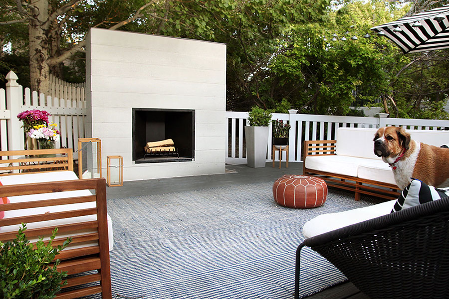 Chris Loves Julia - Deck & Outdoor Fireplace