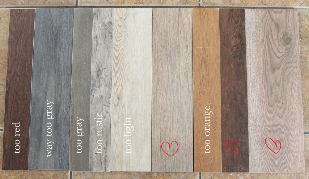 picks - Our Flooring: Solid Wood Vs. Faux Wood Tile - Chris Loves Julia
