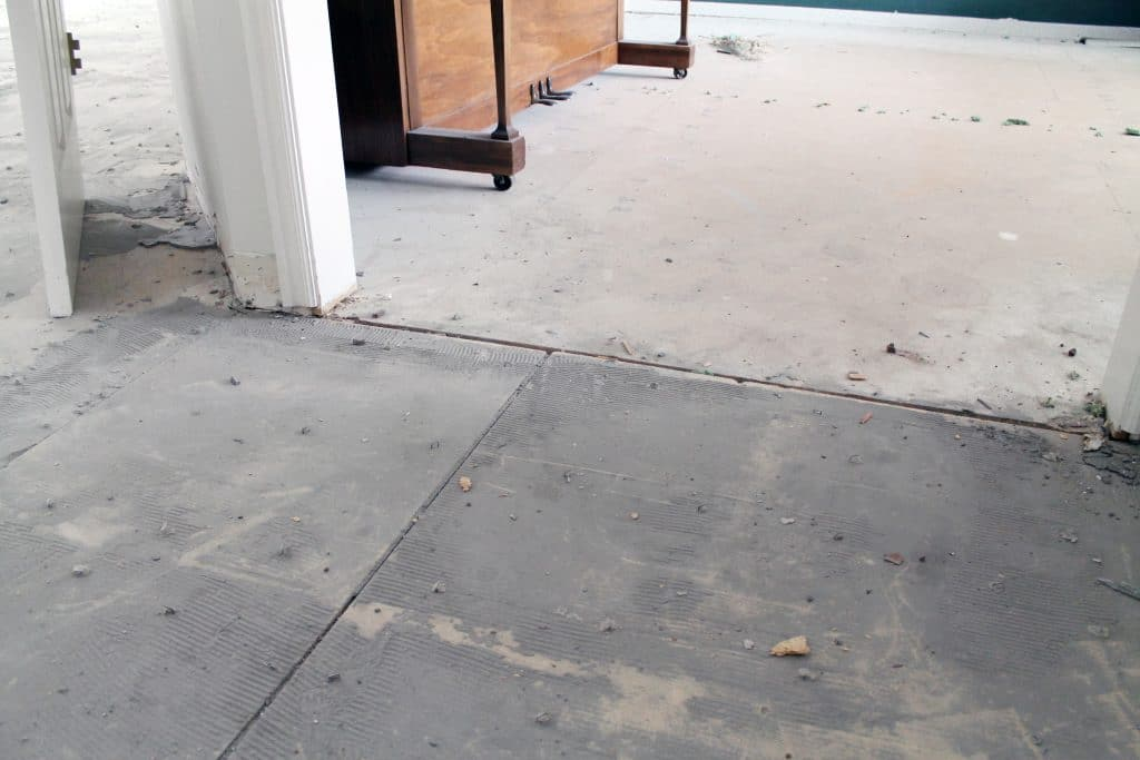 Cement Board Flooring : Why particle board subfloors are bad chris loves julia