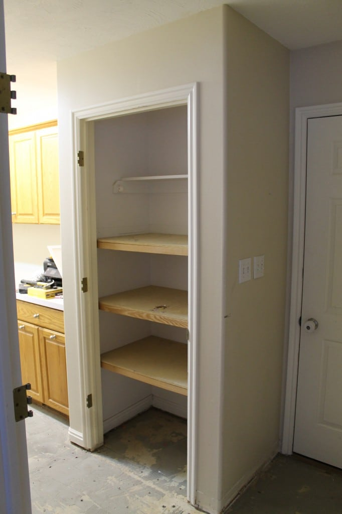 The Previous Owners Turned The Coat Closet Into More Of A Storage Closet  With Shelves, But Our Plans Include Ripping The Whole Thing Out And Making  It More ...