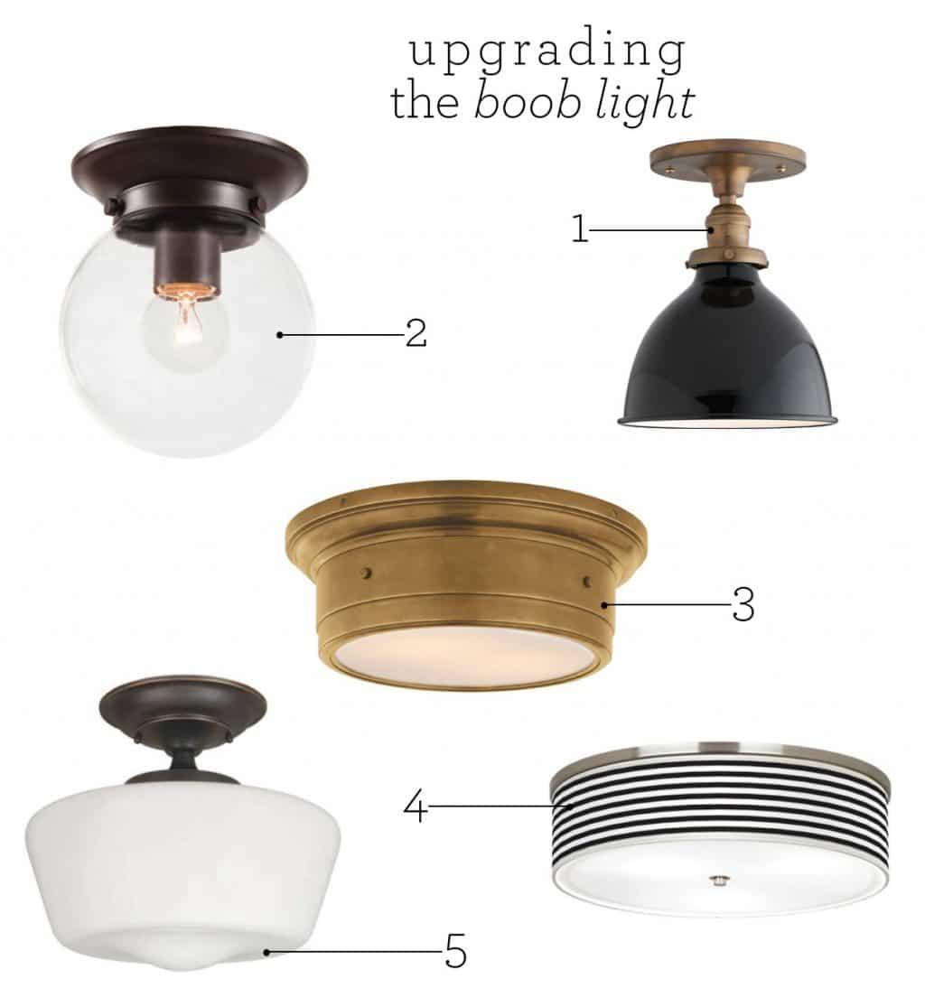 Flush Mount Kitchen Lighting: Upgrading The Boob Light