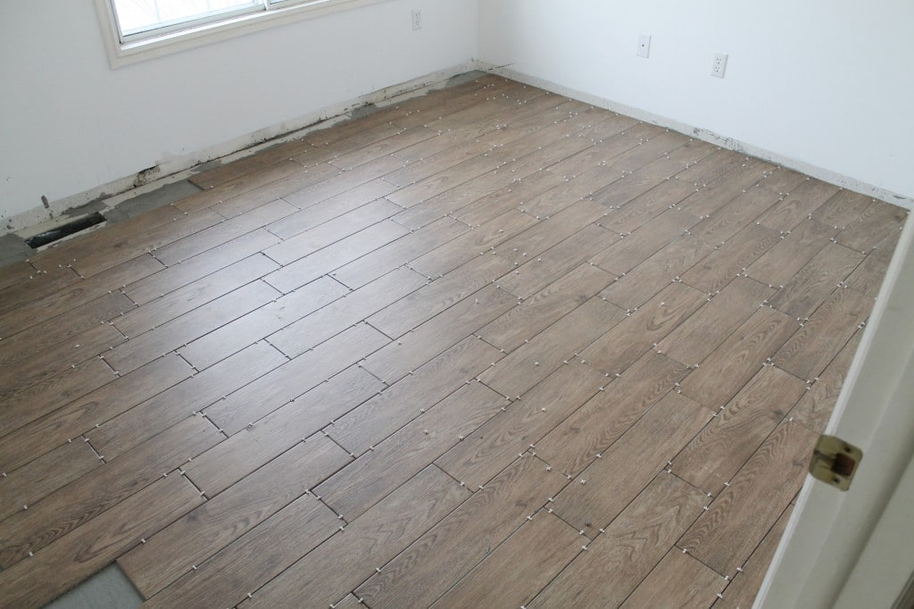 Tips for Achieving Realistic Faux Wood Tile - Chris Loves Julia