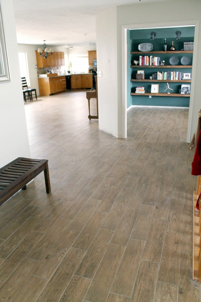 Chris Loves Julia / Faux Wood Tile: Nordic Brown From The Tile Shop