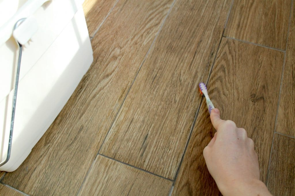 Kitchen Floor Grout Cleaner Removing Grout Haze The Easy Way Chris Loves Julia