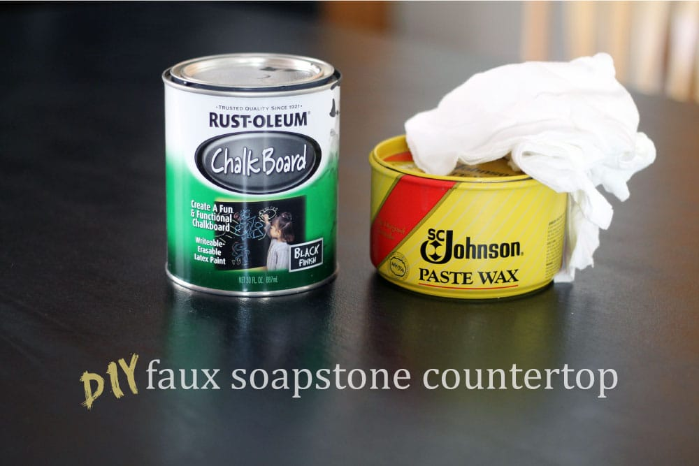 DIY Faux Soapstone Countertops