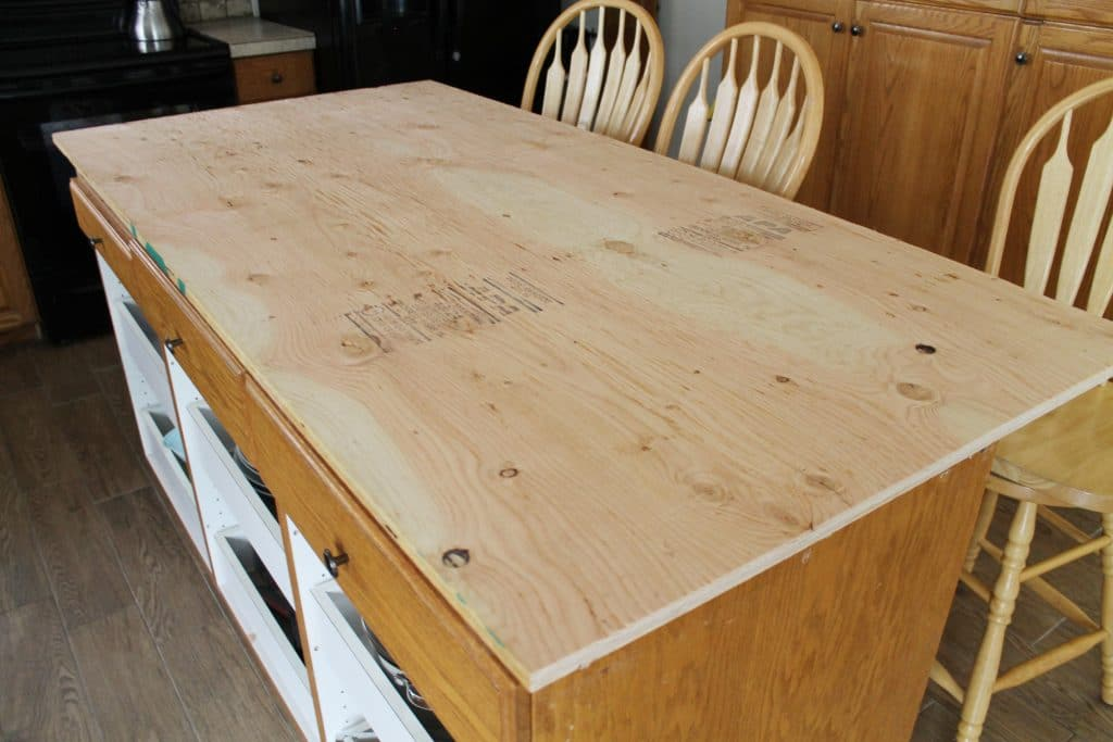 Cheap Countertops : When we reconfigured our island , we put this piece of cheap leftover ...