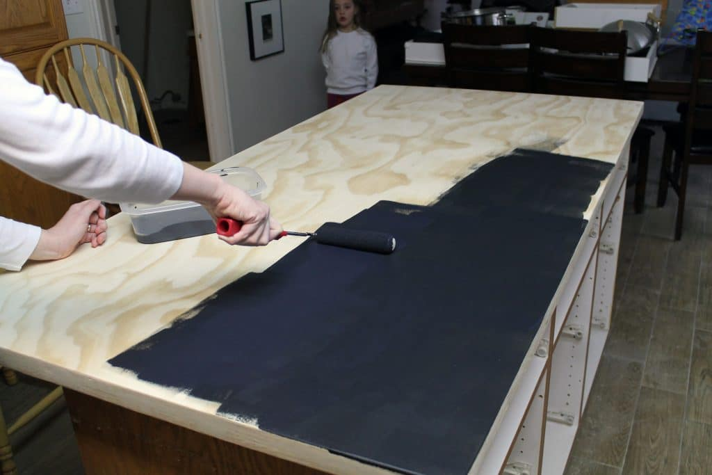 Countertop Chalkboard Paint : DIY Faux Soapstone Countertop - Chris Loves Julia