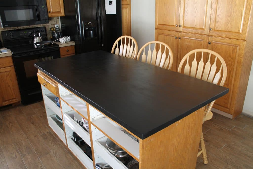 Faux painting furniture ideas - Diy Faux Soapstone Countertop Chris Loves Julia