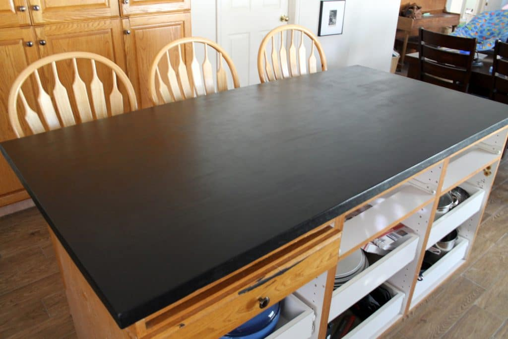 Concrete That Looks Like Soapstone Countertops : Diy faux soapstone countertop chris loves julia