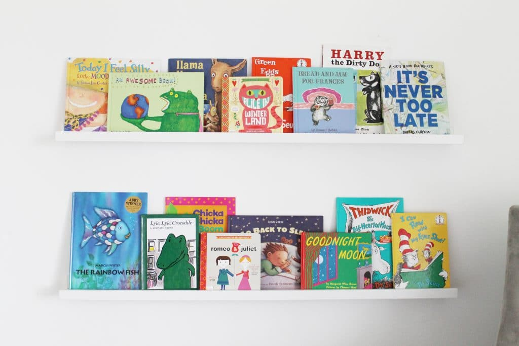 Stack Of Books In Kids Room