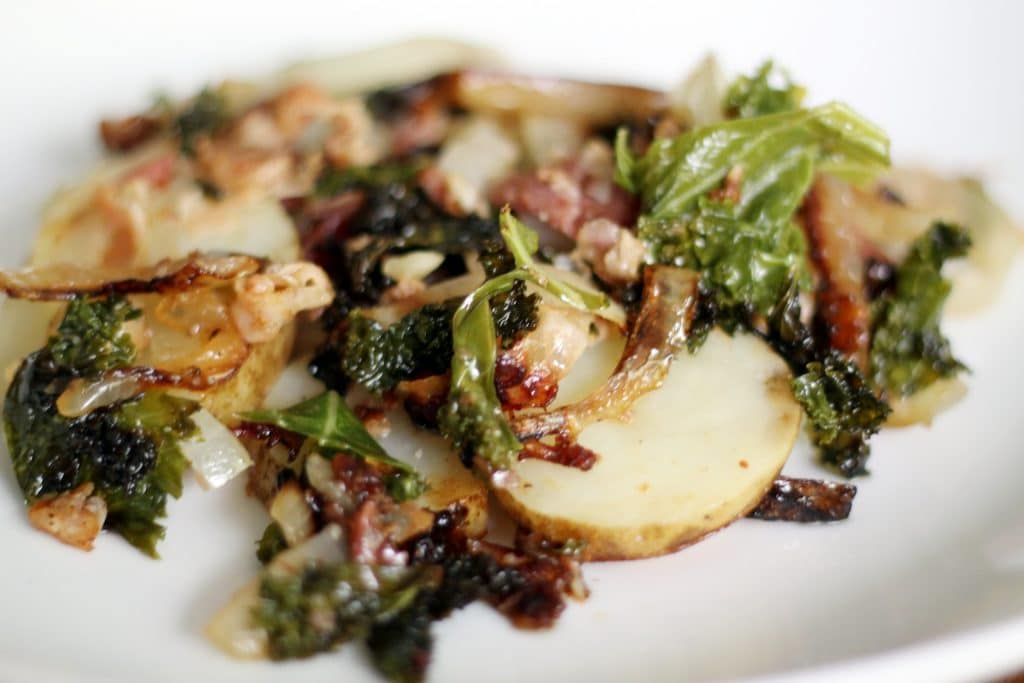 Potato, Kale and Bacon Tinfoil Dinners