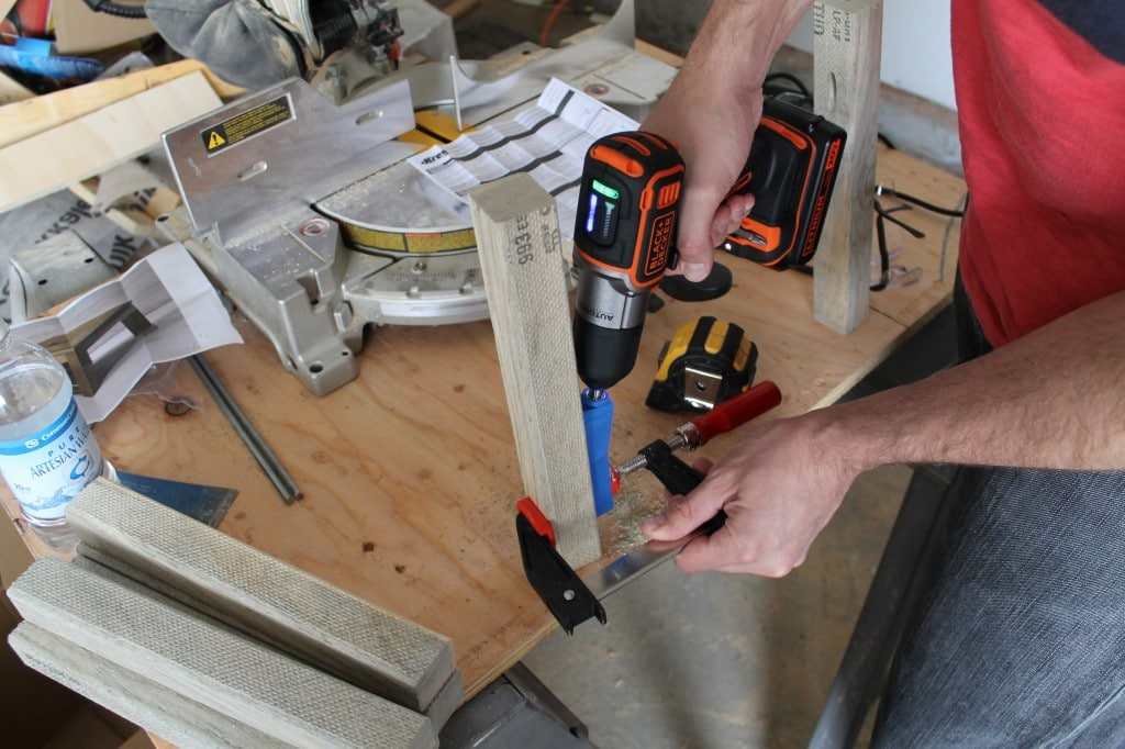 Drilling a Hole with a Kreg Jig