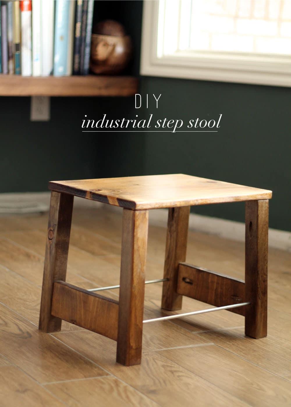 DIY Industrial Step Stool Chris Loves Julia