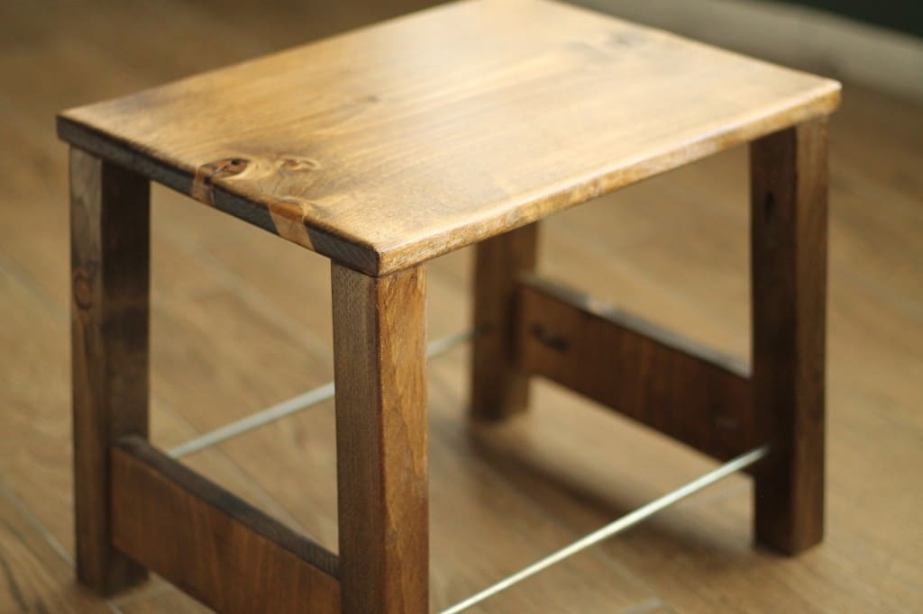 DIY Industrial Step Stool