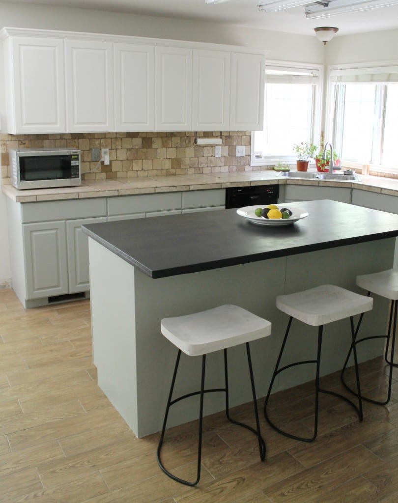 Valspar Countertop Paint : Also, I wanted to get the white cabinets out of my system because in ...