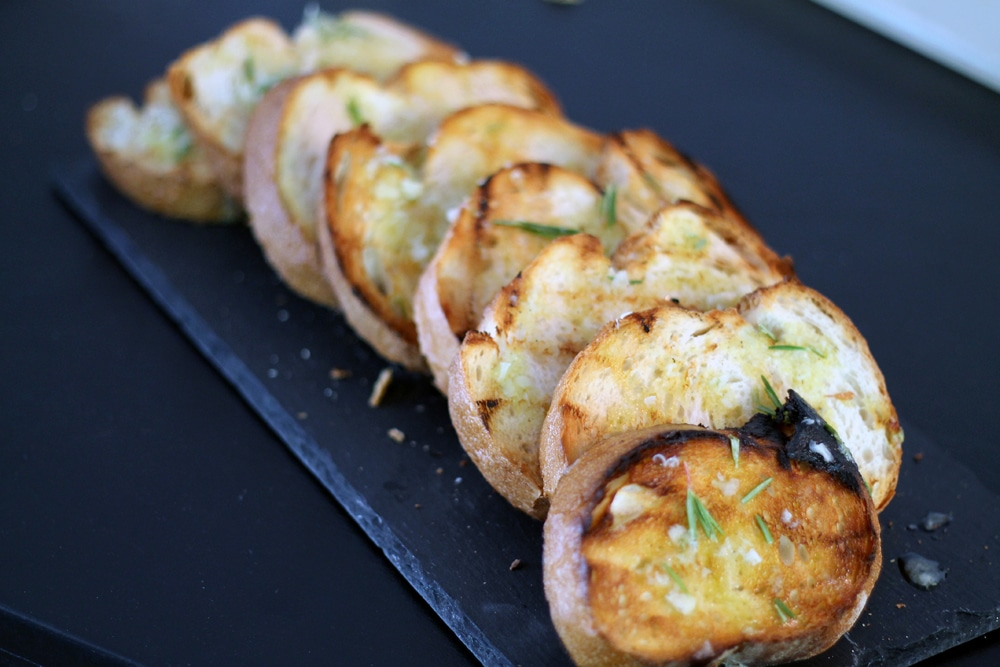 Grilled Lemon & Rosemary Garlic Bread