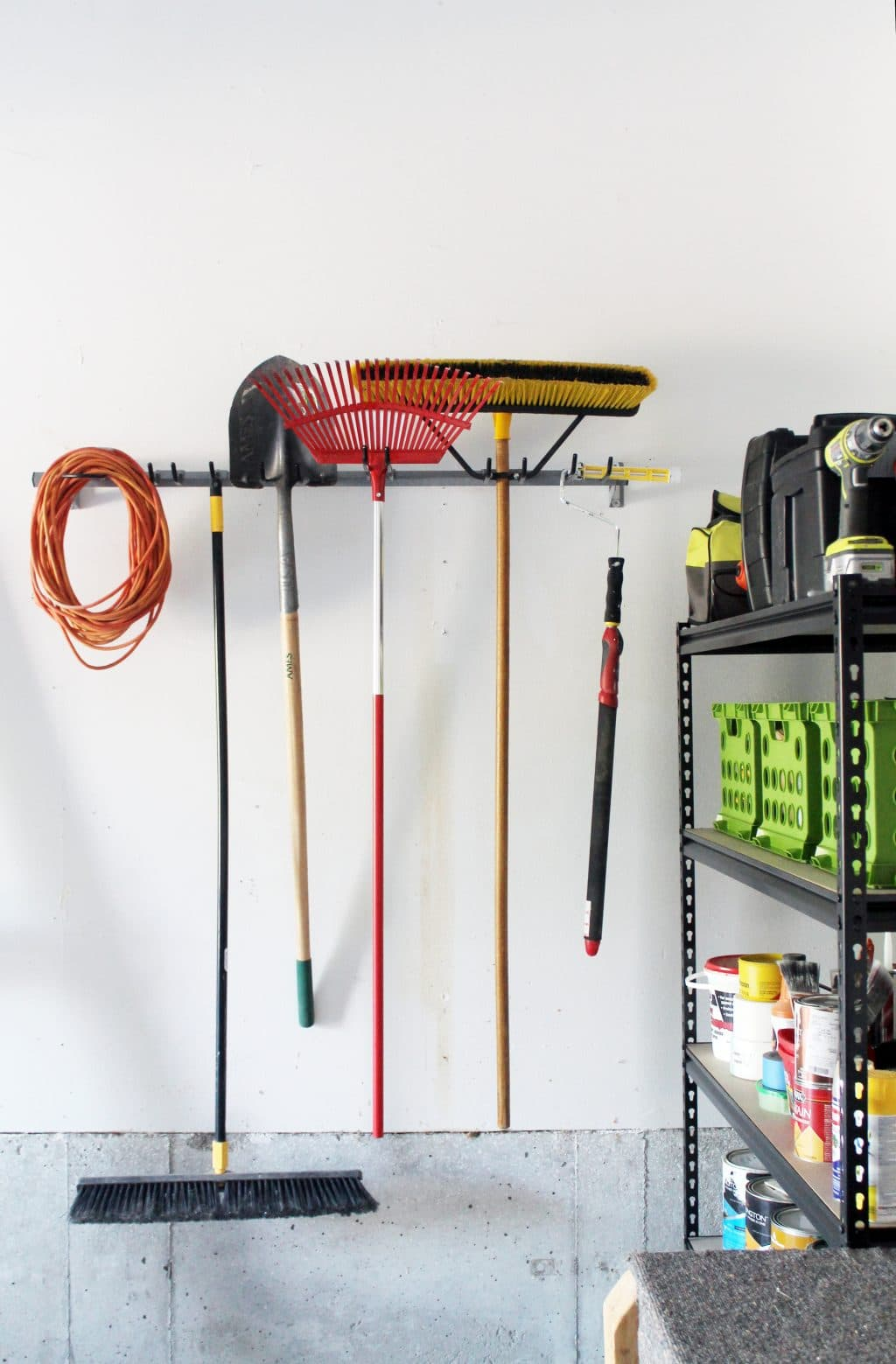 Garden Tool Storage Ideas garden tool rack steel rack for shovels hoes gardenerscom Its No Fuss The Hooks Are Adjustable And It Keeps Our Tools Off The Ground Plus Theres Lots More Room To Grow Our Collection