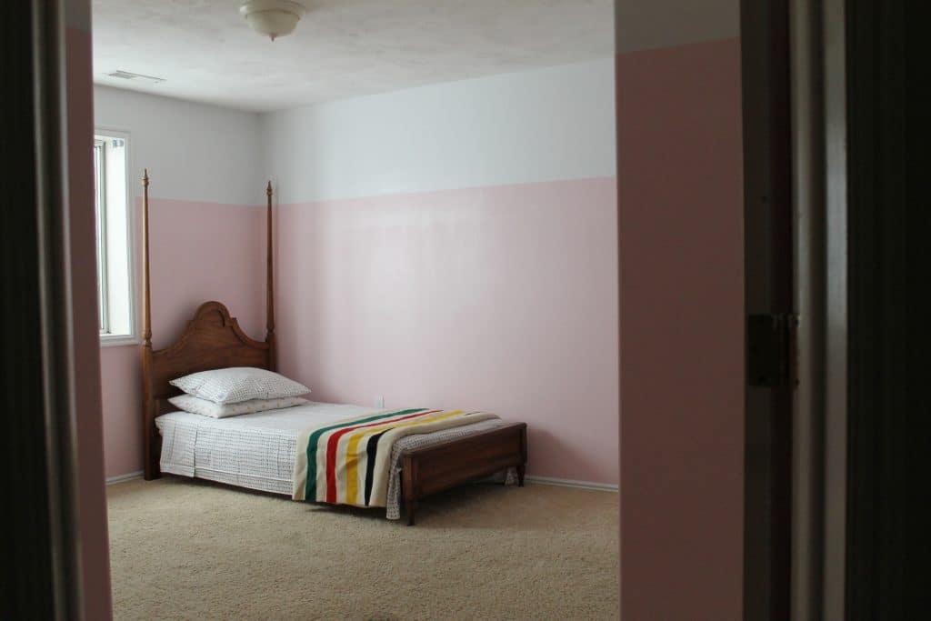 3/4 Painted Pink Walls in Greta\'s Room - Chris Loves Julia