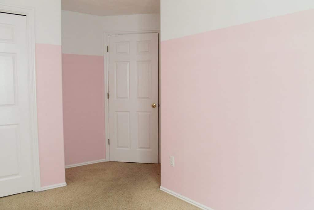 Pink Wall Paint 3/4 painted pink walls in greta's room - chris loves julia