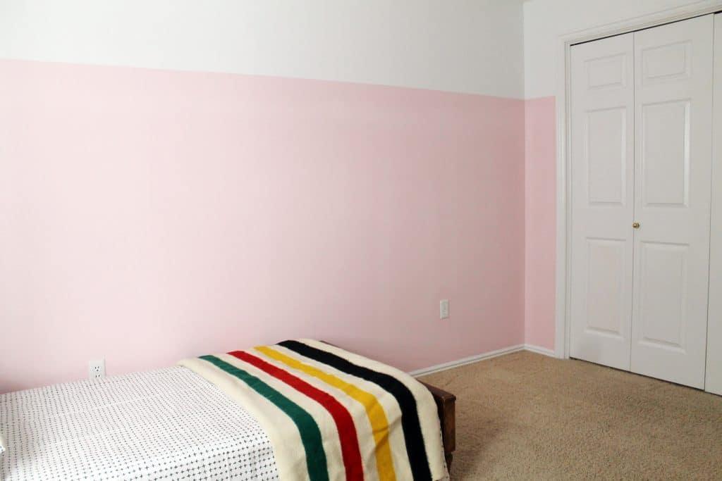 3 4 Painted Pink Walls In Greta 39 S Room Chris Loves Julia
