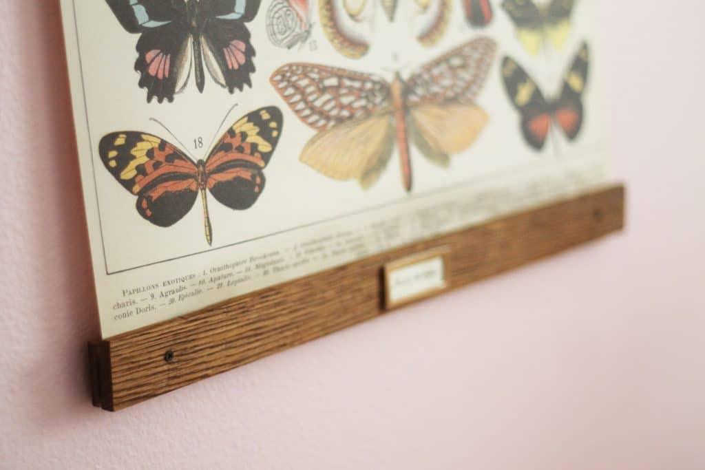 Diy Vintage Poster Frame For Greta S Butterflies Chris