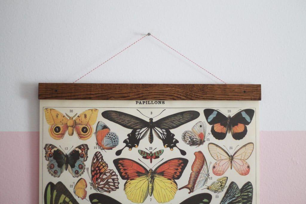 DIY Vintage Poster Frame for Greta\'s Butterflies - Chris Loves Julia