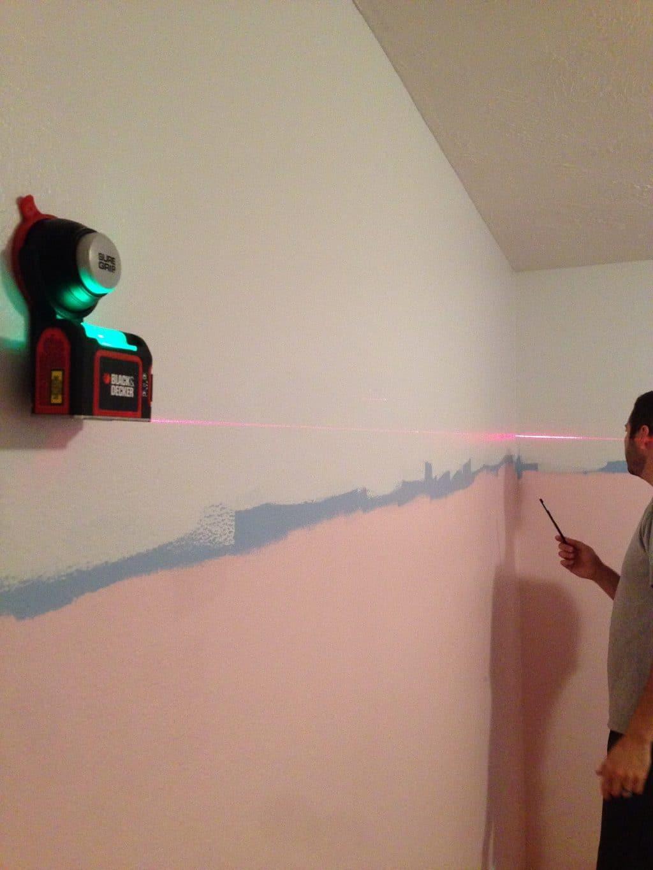 3/4 Painted Pink Walls in Greta's Room - Chris Loves Julia