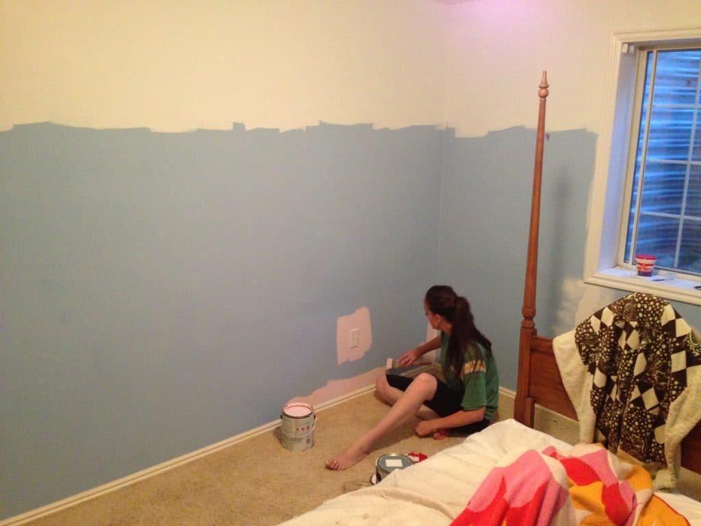 clean painted walls34 Painted Pink Walls in Gretas Room  Chris Loves Julia