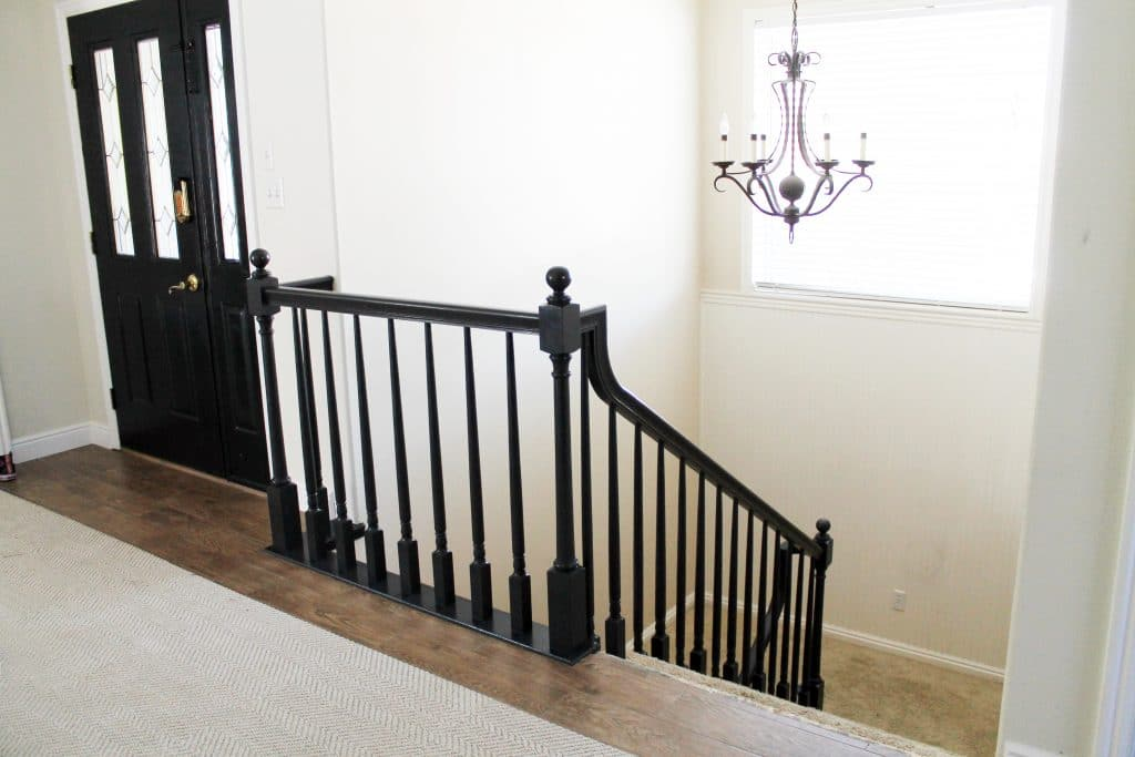 The Banister is Painted! - Chris Loves Julia