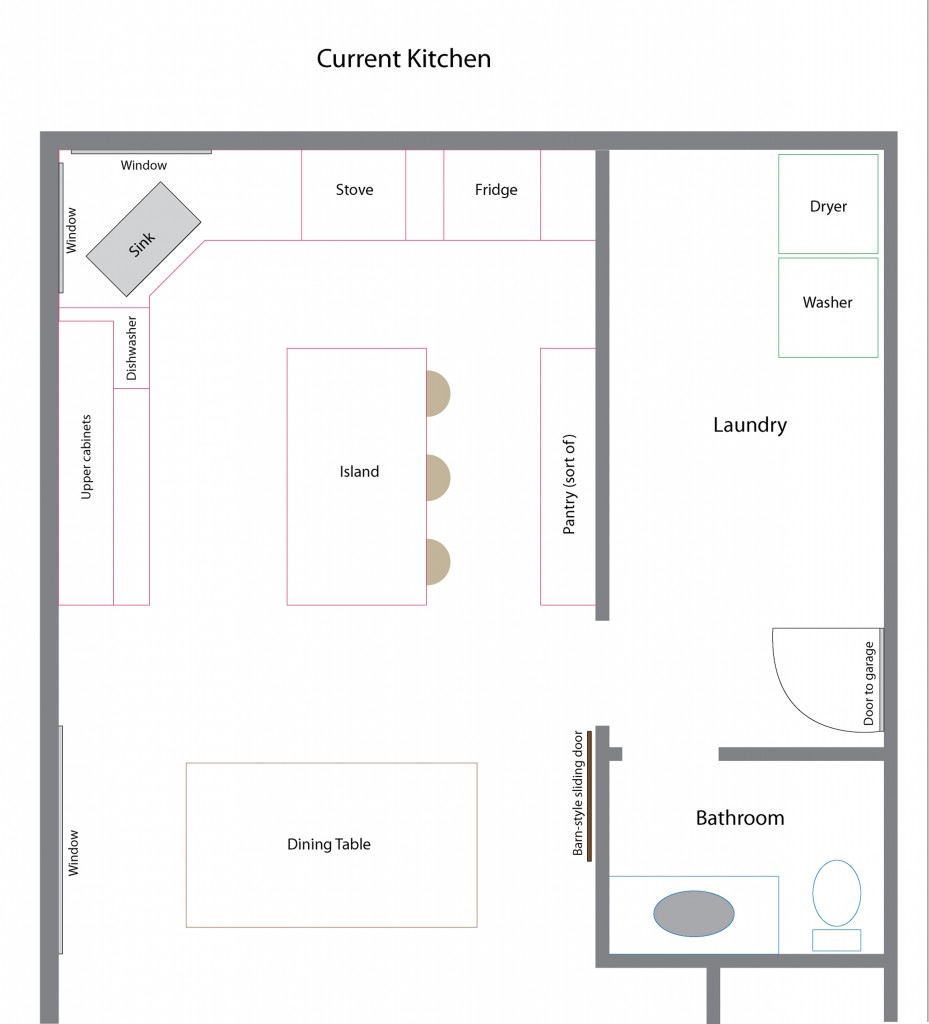 current kitchen Floor-plan