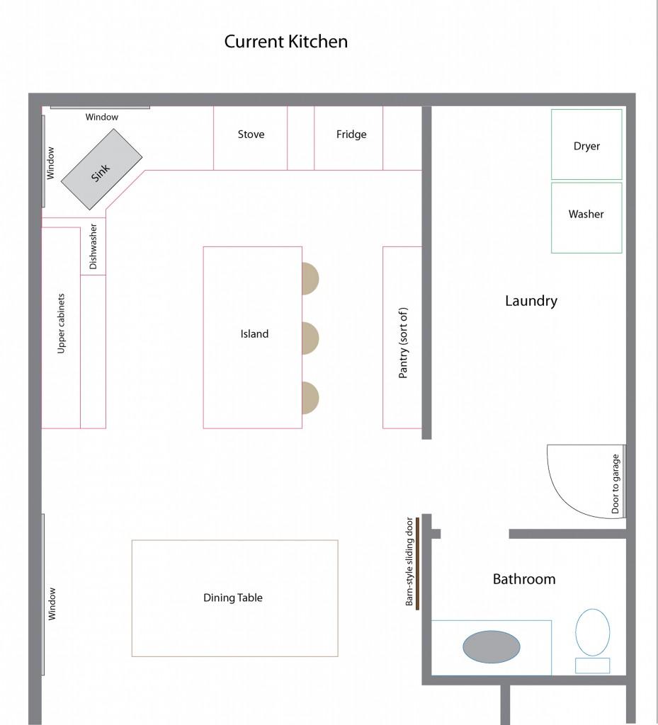 current kitchen Floor-plan
