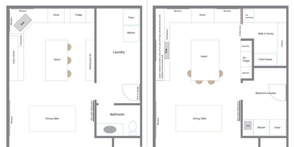 Delightful Laundry Room Plan Part - 2: Old And New Floor Plans