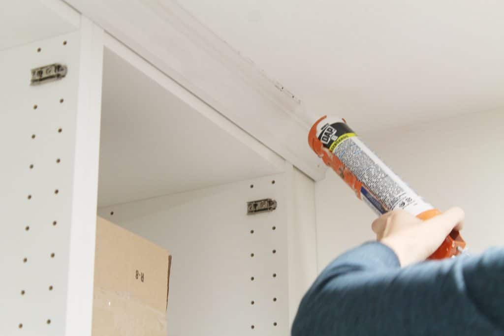Best Caulk For Trim How To Trim Out Ikea Cabinets Chris Loves Julia