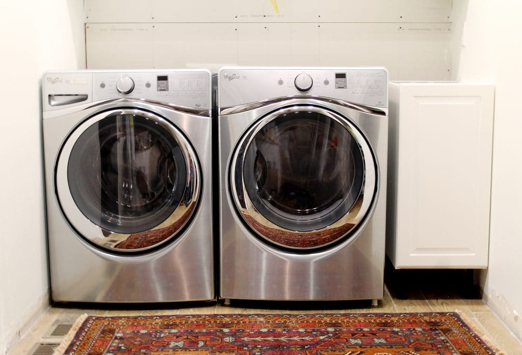 Our new whirlpool duets in diamond steel and all the heart eyes emojis chris loves julia - Whirlpool duet washer and dryer ...