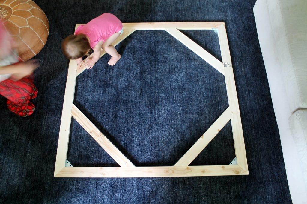DIY Large Stretched Canvas - Chris Loves Julia