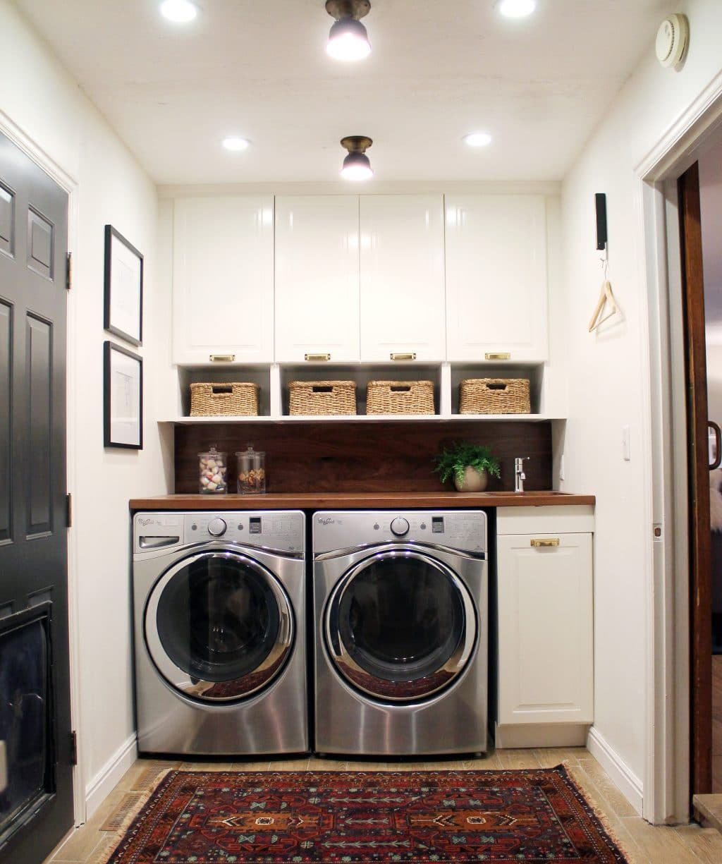 Laundry Room In Kitchen Before And After A Bathroom Turned Laundry Room Chris Loves Julia