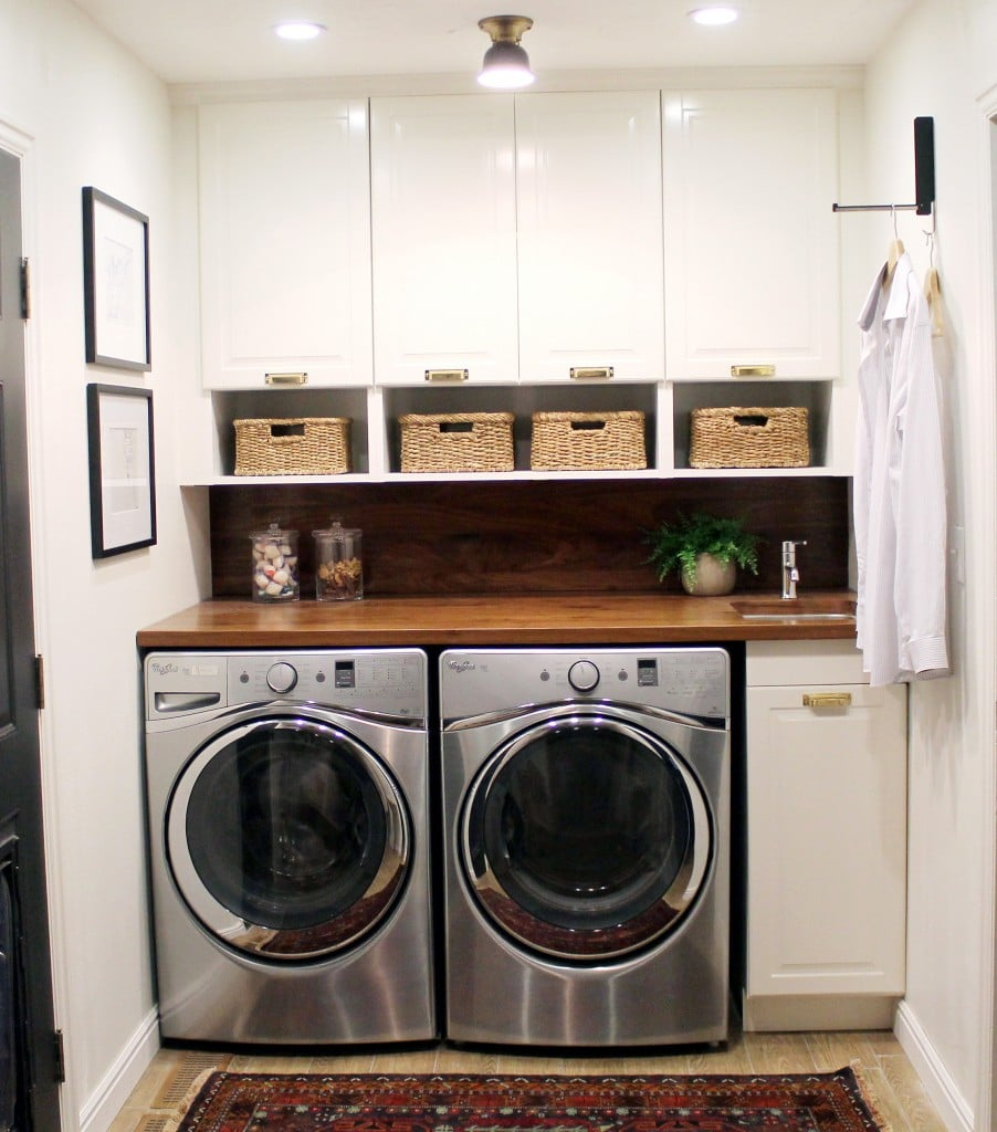 Laundry Room: Before And After: A Bathroom Turned Laundry Room