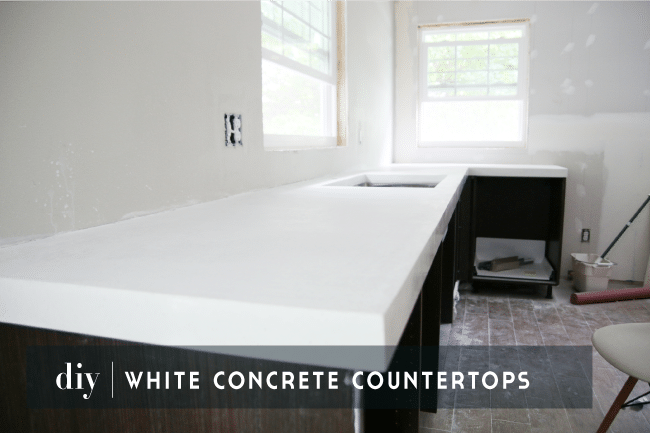 Diy White Concrete Countertops Chris