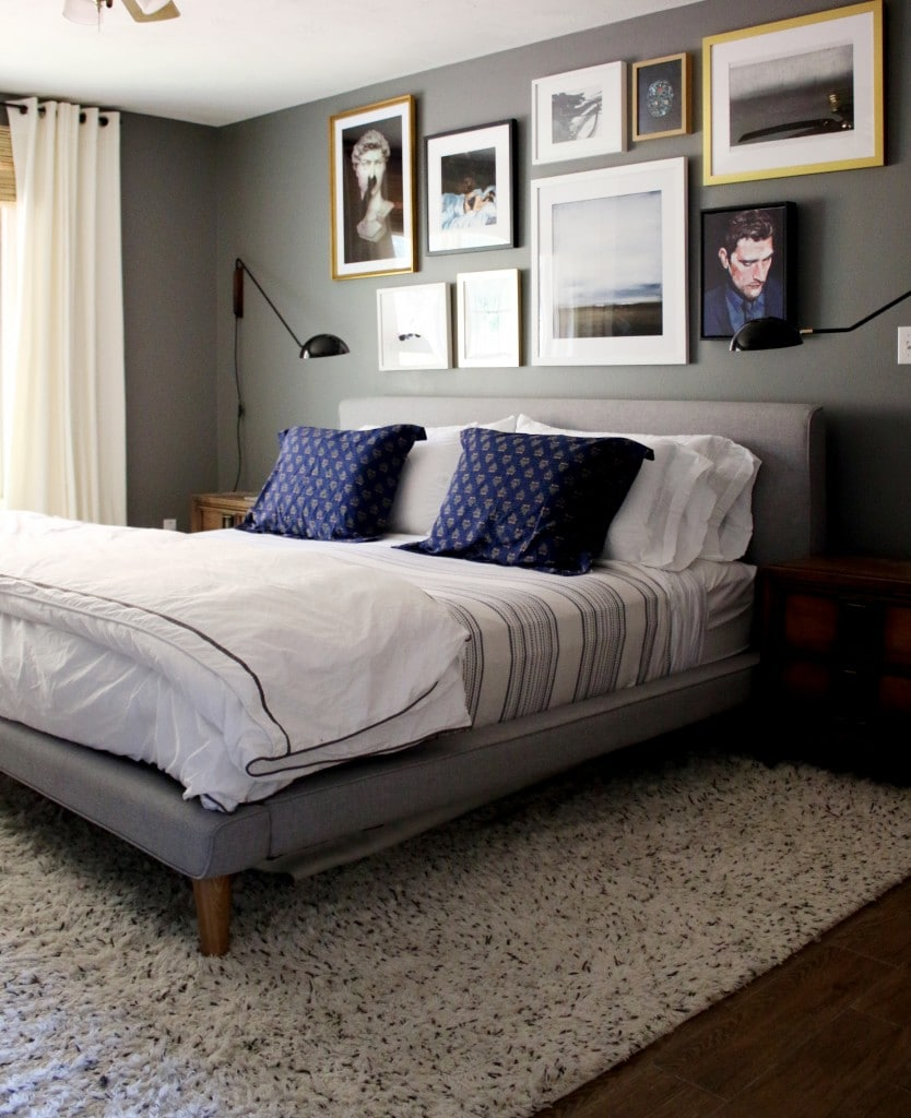 A Gallery Wall In The Master Bedroom Tips On Creating Your Own Chris Loves Julia