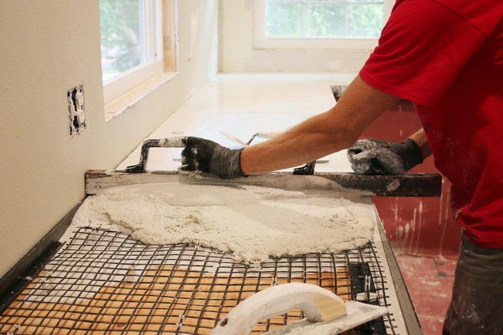 DIY White Concrete Countertops - Chris Loves Julia
