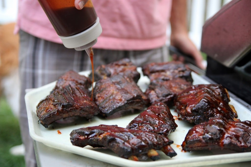 Mayo-Rubbed Smoked Ribs