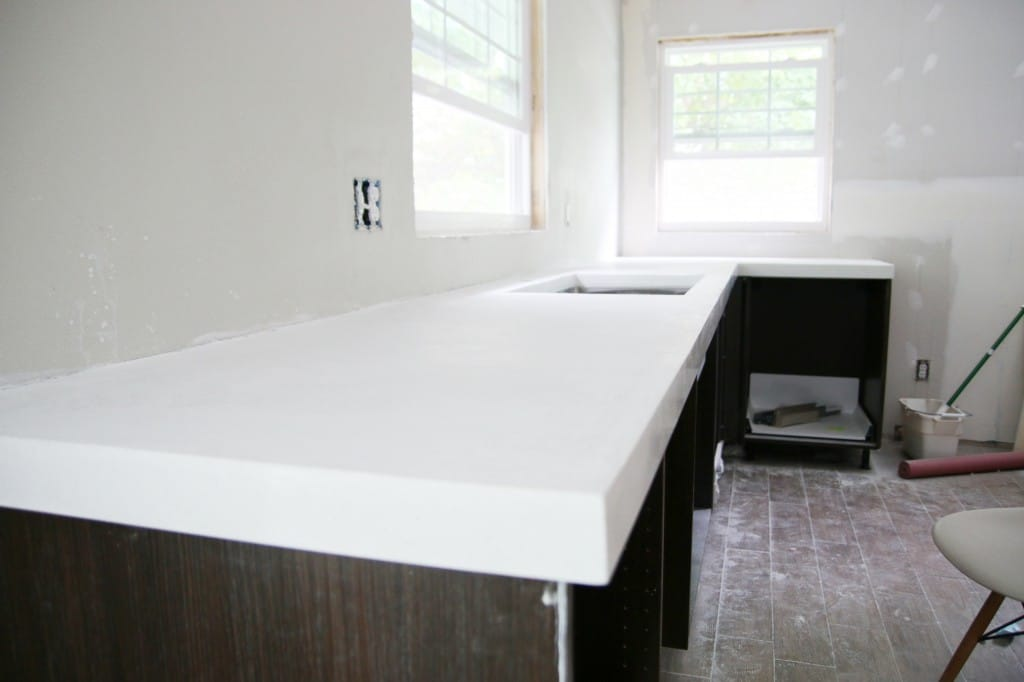 Diy White Concrete Countertops Chris Loves Julia