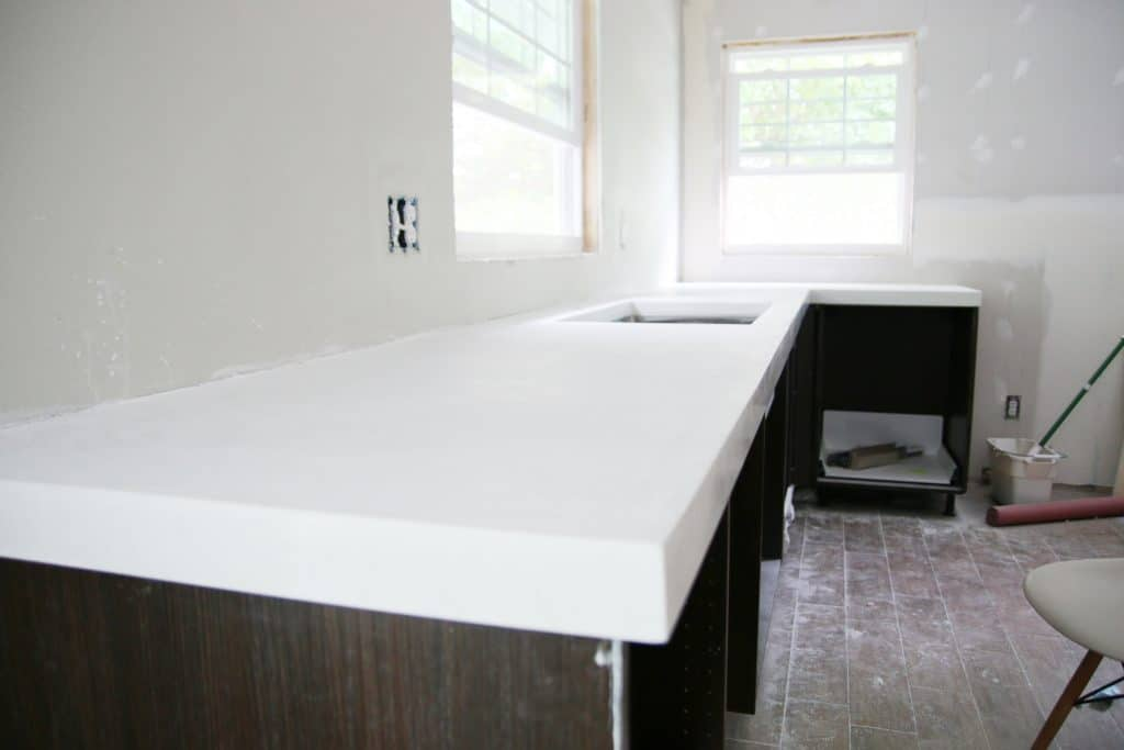 diy white concrete countertops chris loves julia.html