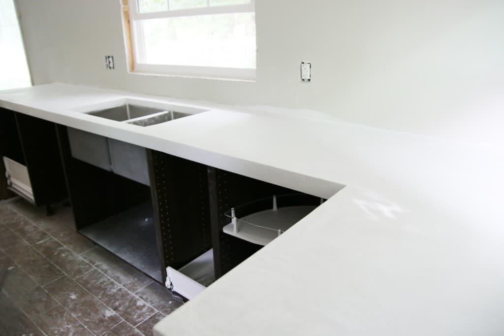 DIY White Concrete Countertops | Chris Loves Julia
