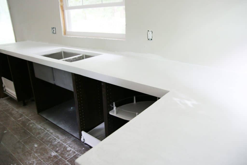 Poured Concrete Kitchen Floor Diy White Concrete Countertops Chris Loves Julia