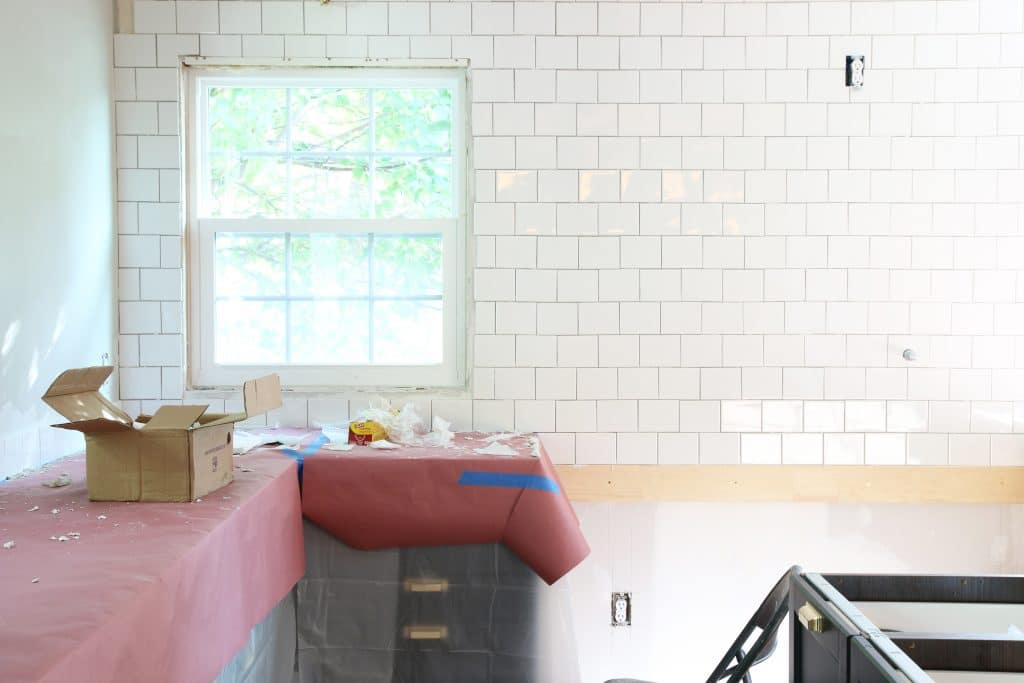 A fresh take on a classic tiled backsplash chris loves julia all of the tiles are handmade so there are some slight variations in thicknesses and shape but i think it adds a casual charming look to the tiled wall dailygadgetfo Gallery