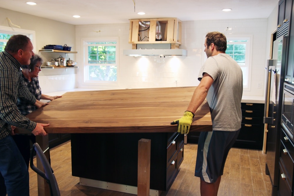 Customizing Our Ikea Kitchen Island | Chris Loves Julia