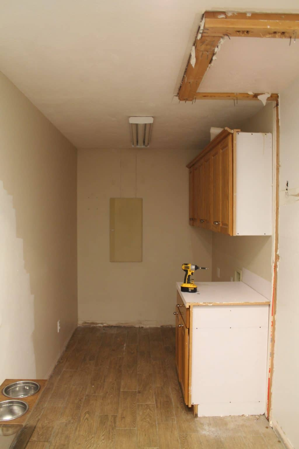 We Had To Move Our Laundry Room Before We Started The Kitchen, Because A  Big Part Of The Kitchen Plans Was Adding A Walk In Pantry.